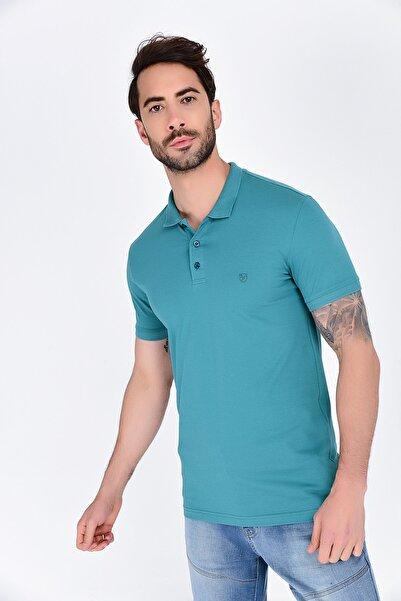 Rodi Jeans Rodi Rd19ye279977 Açık Yeşil Erkek T-shirt Lycra Polo Pike