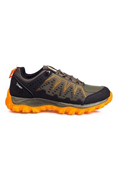 Jump Haki Siyah Turuncu Yüksek Taban Bağcıklı Erkek Spor Ayakkabı • A21ekjmp0017