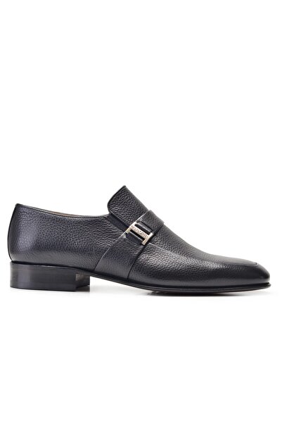 Nevzat Onay Hakiki Deri Siyah Klasik Loafer Kösele Erkek Ayakkabı -11889-