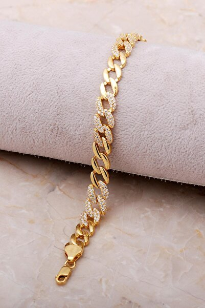Sümer Telkari Gurmet Altın Yaldızlı Taşlı Gümüş Bileklik 3488