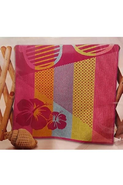 Özdilek Nice Plaj Havlusu Pink Glass 75*150 Pembe Desenlil