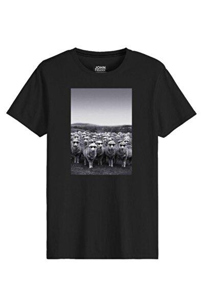 John Frank Erkek Baskılı Tişört Jftcool08-sheep