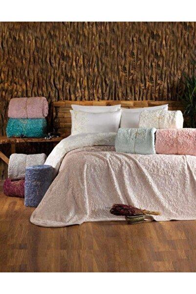 Elart Embos Çift Kişilik Battaniye 8 Farklı Renk Pudra