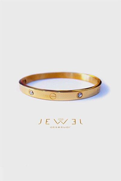 Jewel C. Model Gold Altın Kaplama Taşlı Bileklik