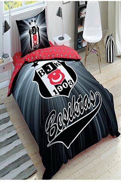 Taç Lisanslı Tek Kişilik Nevresim Takımı Beşiktaş Light Glow