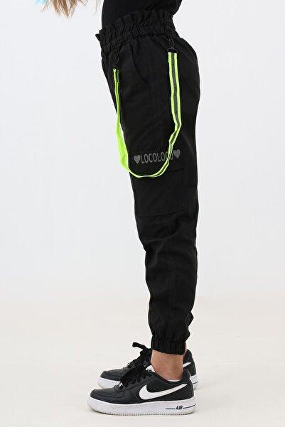 Enisena Siyah Kız Cocuk Jogger Gabardin Pantolon