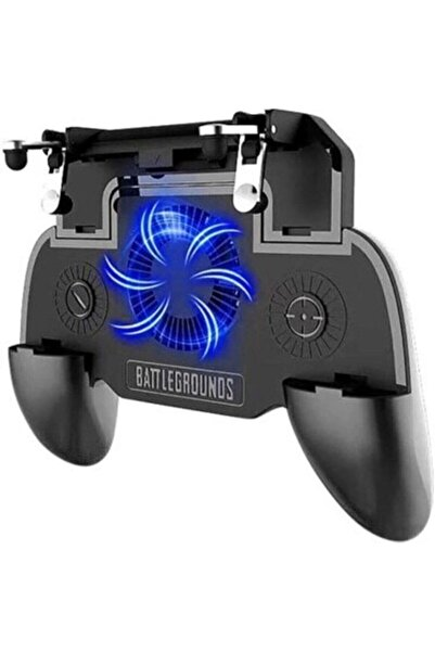 POLYGOLD Pubg Mobile Tetik Gamepad Aparat Sr Fanlı Powerbanklı Oyun Konsol
