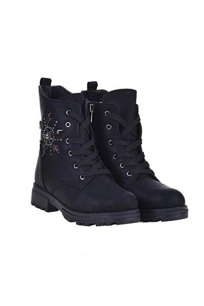 Twingo 730 Siyah Kışlık Termal Kürklü Kız Çocuk Bot Ayakkabı