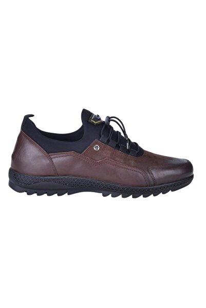 Pierre Cardin 62104 Kahve %100 Deri Erkek Sneakers Spor Ayakkabı