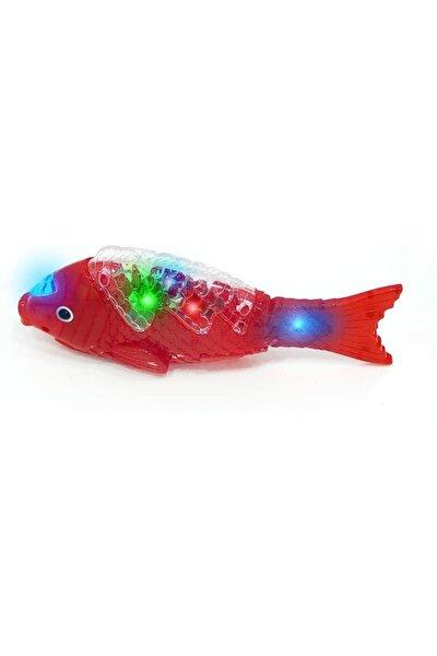 Birlik Oyuncak Müzikli Işıklı Yürüyen Balık 23 Cm Kırmızı