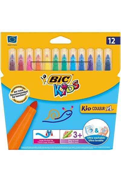 Bic Kid Kids Couleur Xl Çocuk Yıkanabilir Keçeli Boya Kalemi 12 Renk 8289662
