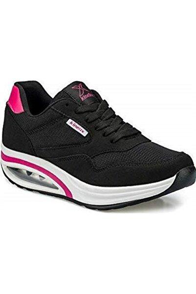 Kinetix Aneta Tx W Siyah Pembe Kadın Sneaker Ayakkabı