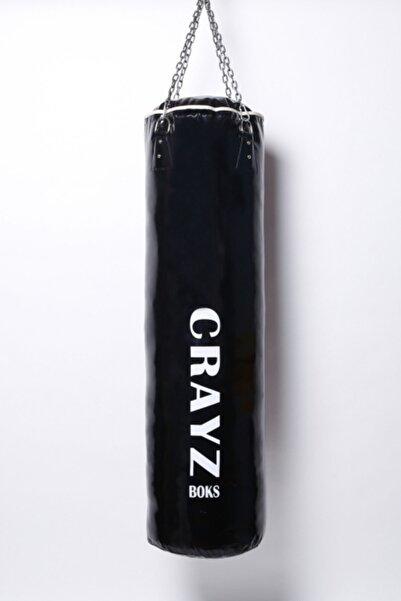 CRAYZ 120x35 Içi Dolu Siyah Zincirli Kum Torbası Askı Aparatı
