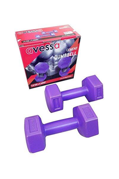 AVESSA 1 Kg Plastik Dambıl Set 2 Adet