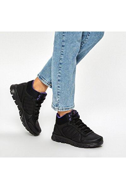 Kinetix Oka Mıd Pu W 9pr Siyah Kadın Koşu Ayakkabısı