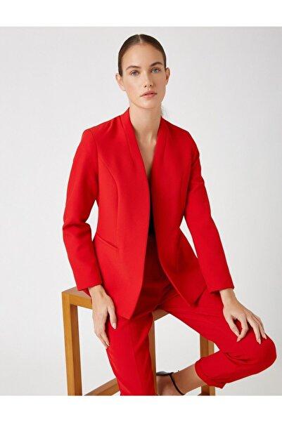 Koton Kadın Kırmızı Ceket
