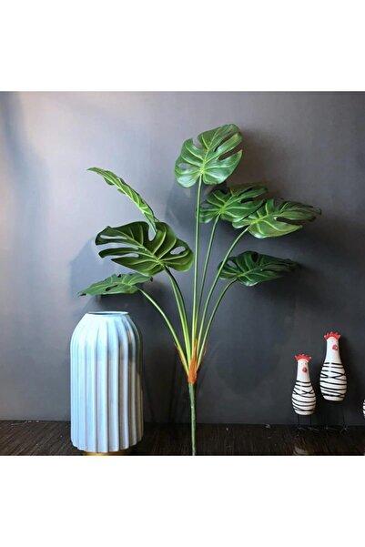 Nettenevime Yapay Çiçek Monstera Yaprağı Yeşil Renk 7 Başlı 7 Kafalı Yapay Yaprak