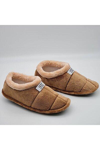 UCC Unisex Kahverengi Panduf Ev Içi Ayakkabısı