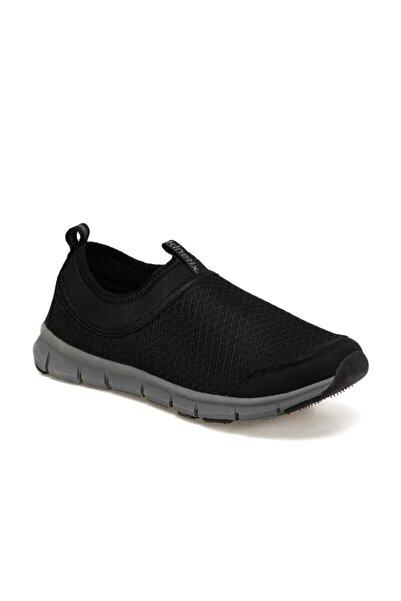 Kinetix Voten Siyah Unisex Rahat Taban Bağcıksız Günlük Spor Ayakkabı