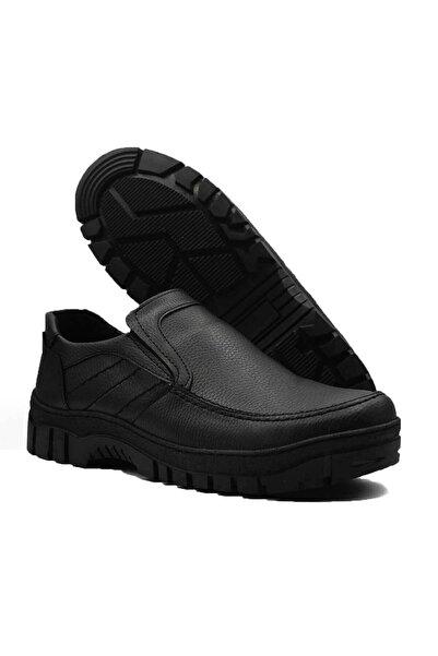 Etap Erkek Siyah Kauçuk Taban Dikişli Kışlık Ayakkabı