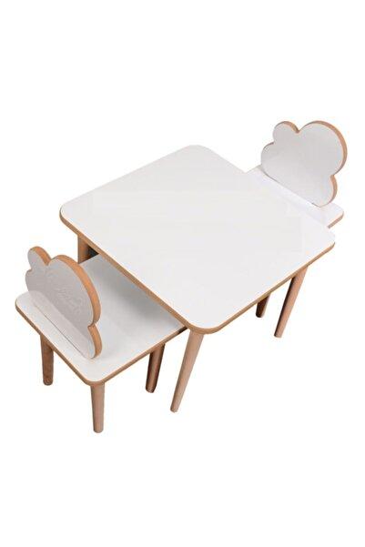 Makeart Baby Yaz-sil Yüzey Bulut Çocuk Oyun Ve Aktivite 1 Masa 2 Sandalye +kalem +silgi