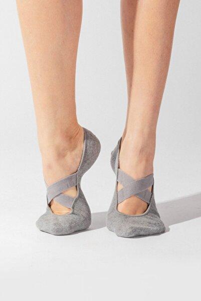 Katia&Bony Asta Yoga Basic Görünmez Çorap - Gri Melanj