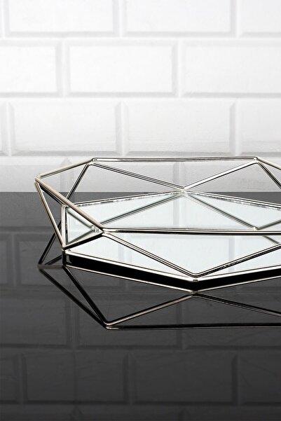 Kitchen Crazy Prizma Gümüş Orta Tepsi 34x30 Cm