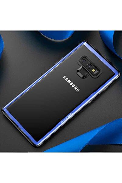 Benks Bensk Magic Shiny Glass Serisi Galaxy Note 9 Kılıf Mavi