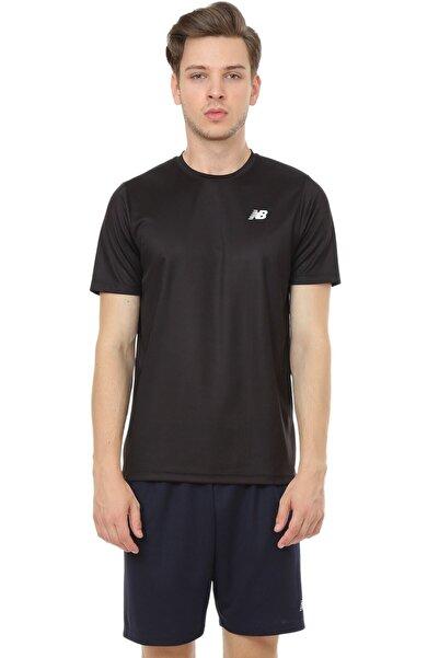 New Balance Logo Mens Tee Siyah Erkek Tişört - Nbtm008-bk
