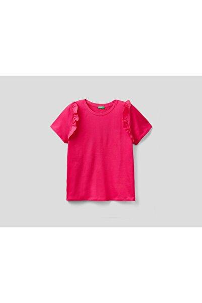 United Colors of Benetton Benetton Omzu Fırfırlı Tshirt