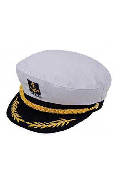 Bay Şapkacı - Unisex Kaptan Şapka 1512 Beyaz