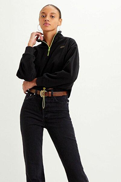 Levi's Kadın  Siyah Trekker Quarter Zıp Cavıar Sweatshirt