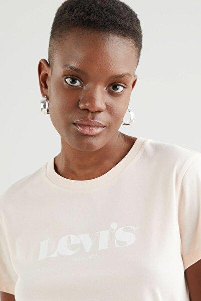 Levi's Kadın  The Perfect Tee New Logo Scallop Nötr  T-Shirt