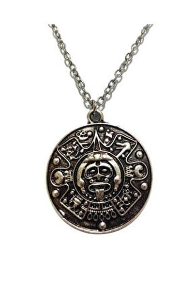 Aztek Maya Takvim Meksika Madalyon Kolye