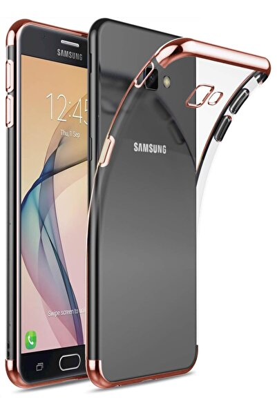 Samsung Galaxy J7 Prime Kılıf Lazer Boyalı Renkli Esnek Silikon Şeffaf