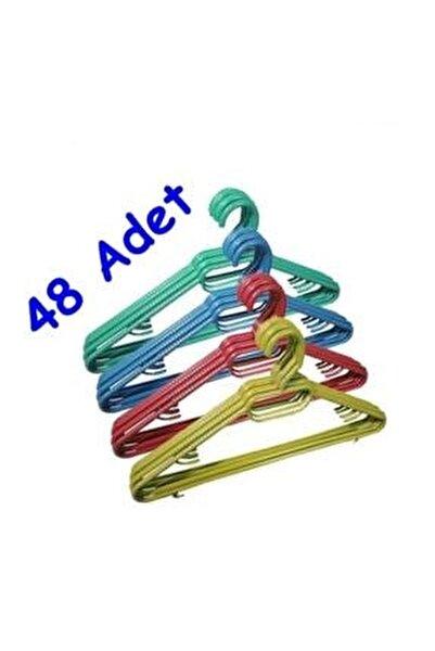 48 Adet Plastik Elbise Askısı