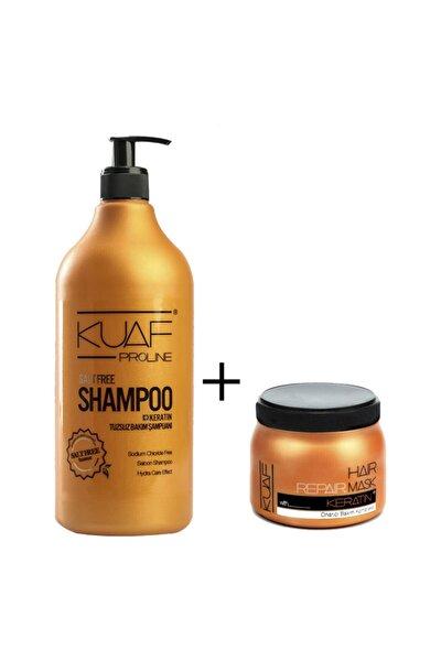 Kuaf Tuzsuz Keratin Şampuan 1000ml + Keratin Saç Maskesi 250ml