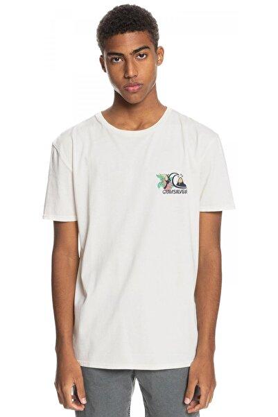 Quiksilver Erkek Beyaz Kısa Kollu T-shirt