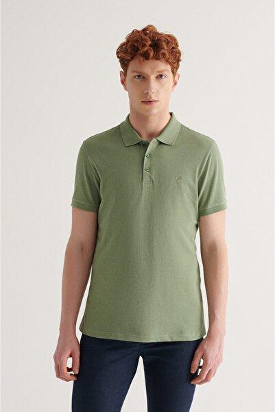 Avva Erkek Nil Yeşili Polo Yaka Düz T-shirt E001004