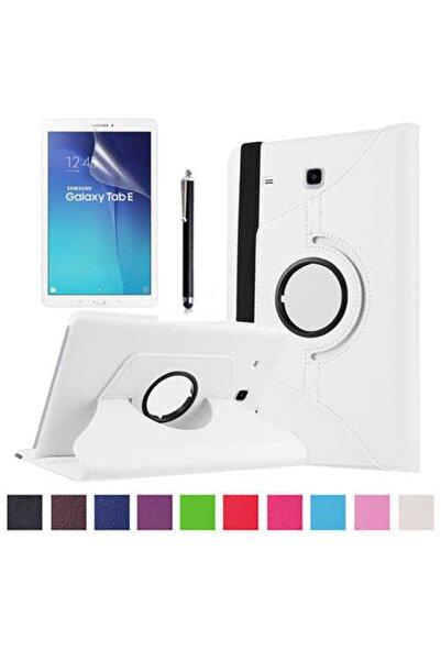 zore Samsung Tab E T560 9.6 Uyumlu Kılıf Dönebilen Standlı Tablet Kılıfı Tablet Case + Hediyeli