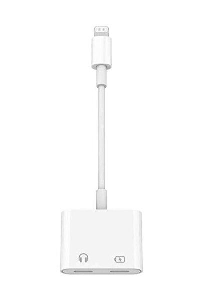 ucuzmi Iphone 11 12 Pro Max Mini Lightning 2in1 Şarj + Kulaklık Dönüştürücü 2 Taraf Lightning