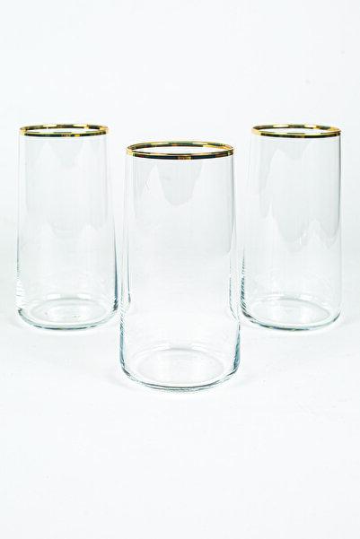Rakle Avantgarde Gold 3'lü Meşrubat Bardağı Seti 540 Cc