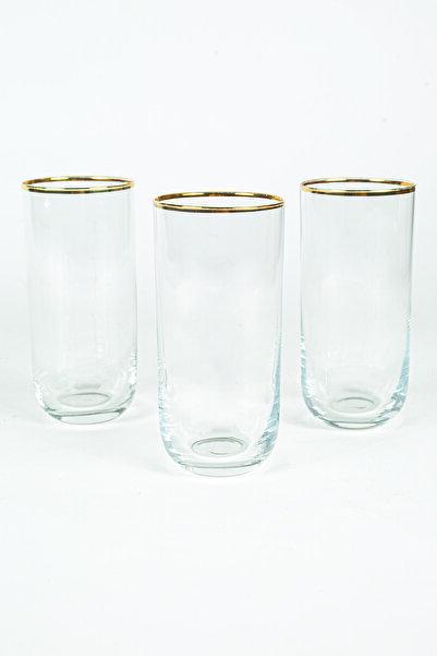 Rakle Glamour Gold 3'lü Meşrubat Bardağı Seti 360 Cc