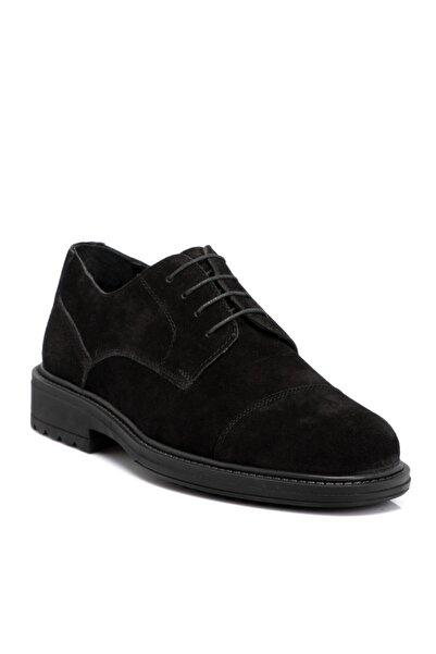 Tergan Siyah Süet Deri Erkek Ayakkabı 55016a01