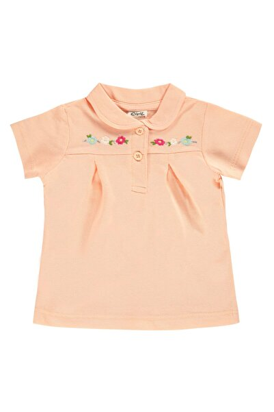 Civil Baby Kız Bebek Tişört 6-18 Ay Somon
