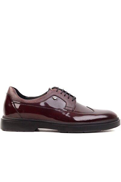 Pierre Cardin - Bordo Açma Deri Erkek Klasik Ayakkabı