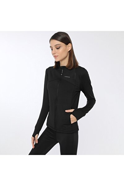 lumberjack KALINA FULL ZIP TOP Siyah Kadın Fermuarlı Sweatshirt 100559736