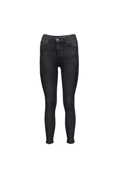 Siyah Kadın Denim Pantolon