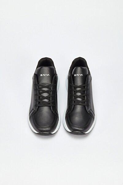 Avva Erkek Siyah Spor Ayakkabı A02y8026