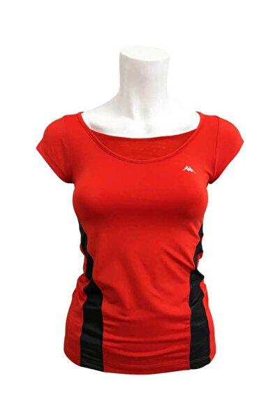 Kappa Kadın Kırmızı Yarım Kollu T-shirt